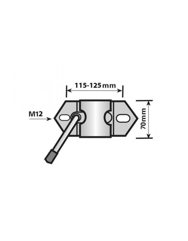 Maypole 48mm Heavy Duty Clamp for Jockey Wheel and Prop Stands | Fieldfare Trailer Centre