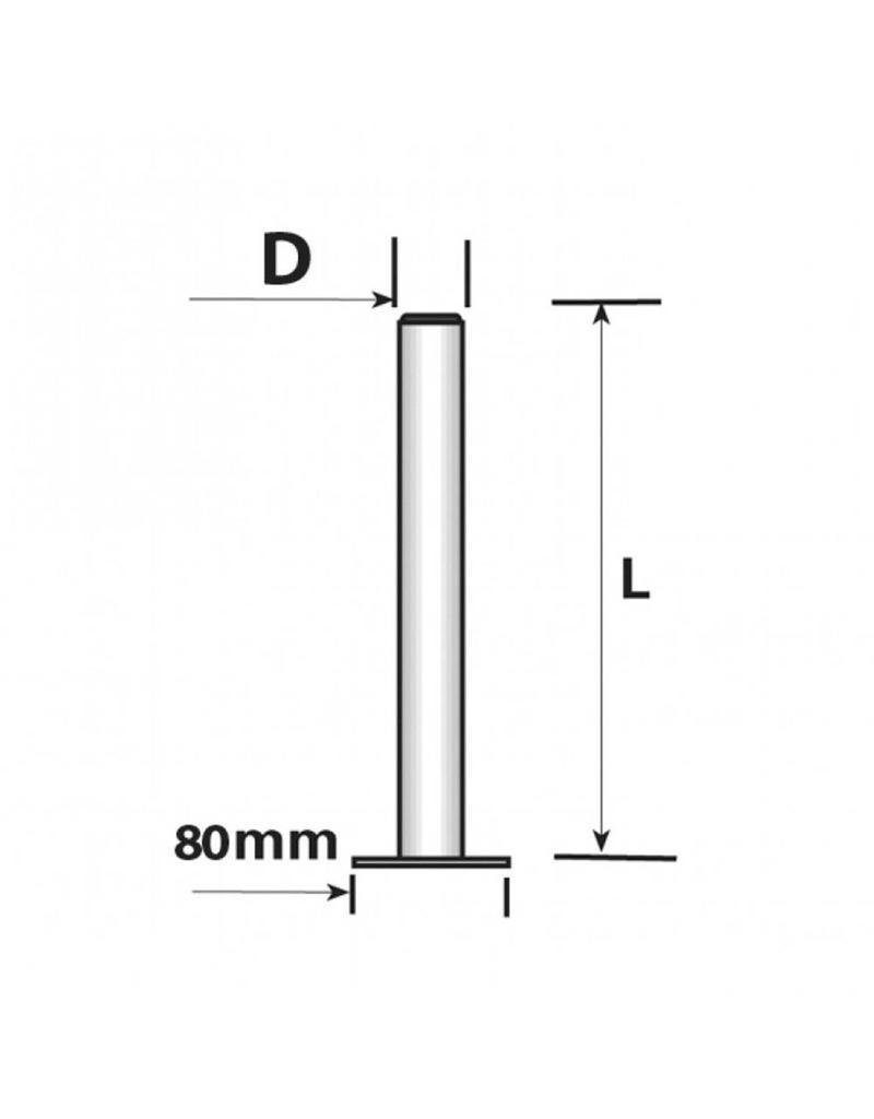 450mm x 34mm Trailer Propstand   Fieldfare Trailer Centre