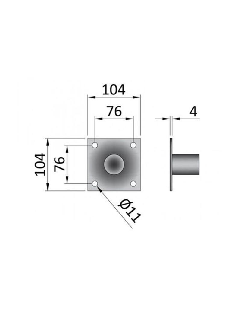 350-500mm Swivel Trailer Jack | Fieldfare Trailer Centre