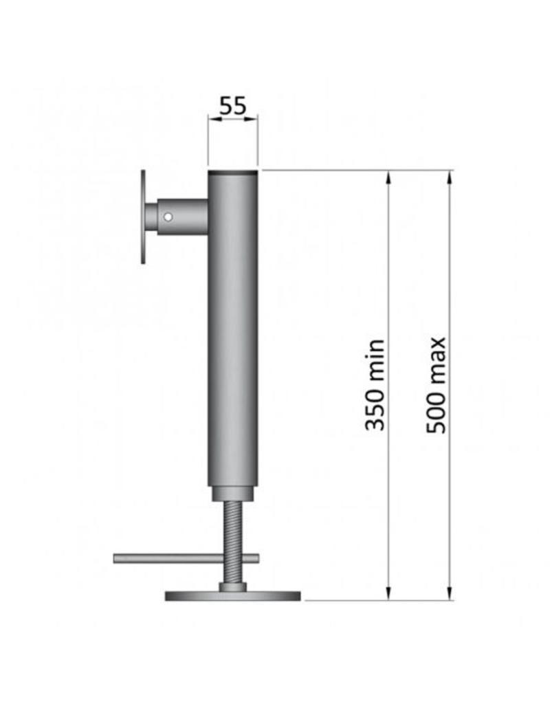 Maypole 350-500mm Swivel Trailer Jack | Fieldfare Trailer Centre