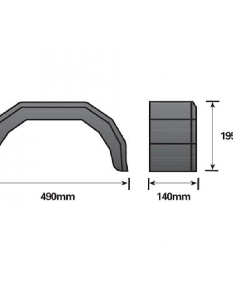 8 inch Single Black Mudguard   Fieldfare Trailer Centre