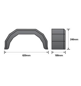10 inch Single Black Mudguard