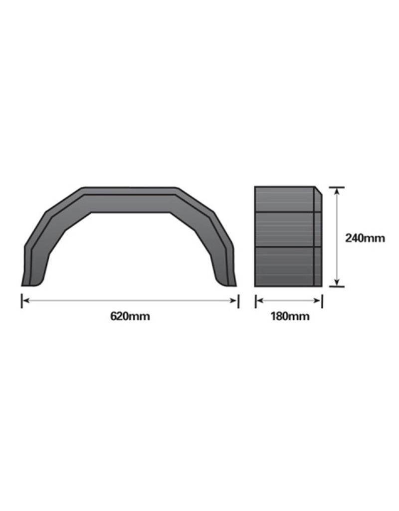10 inch Single Black Mudguard | Fieldfare Trailer Centre