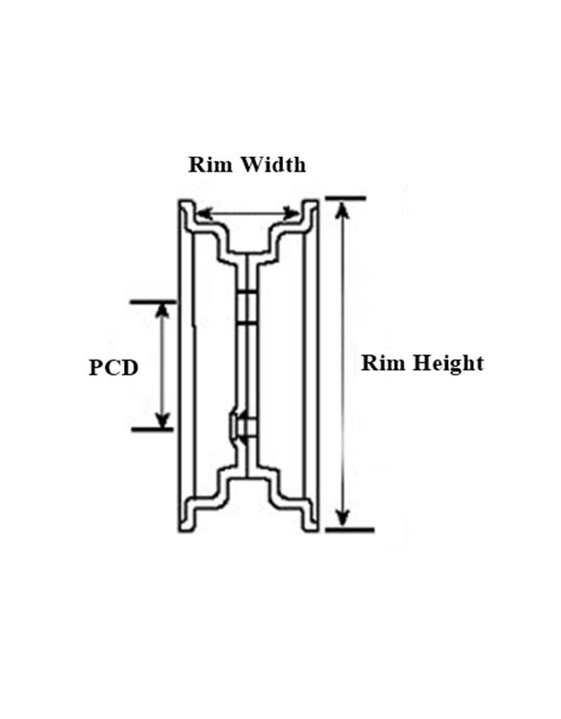 Trailer Wheel 13 inch Rim Steel 4.50J x 100mm PCD x 4 Holes 30 Offset | Fieldfare Trailer Centre