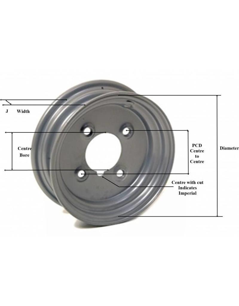 Starco Trailer Wheel 8 inch Rim Steel 5.50J x 4 inch PCD x 4 Holes | Fieldfare Trailer Centre