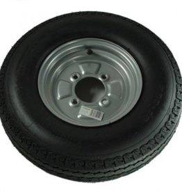"""500 x 10 Wheel & Tyre 6 PLY in Silver 4 Stud 4"""" pcd"""