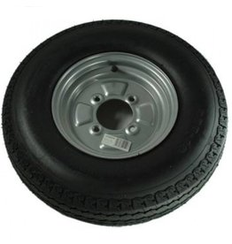 500 x 10 Wheel AND Tyre 6 PLY in Silver 4 Stud 4 inch  pcd