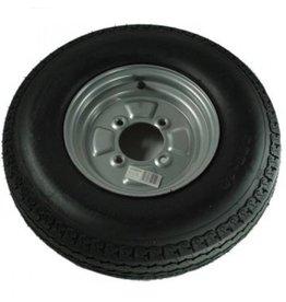"""WSL 500 x 10 Wheel & Tyre 6 PLY in Silver 4 Stud 4"""" pcd"""