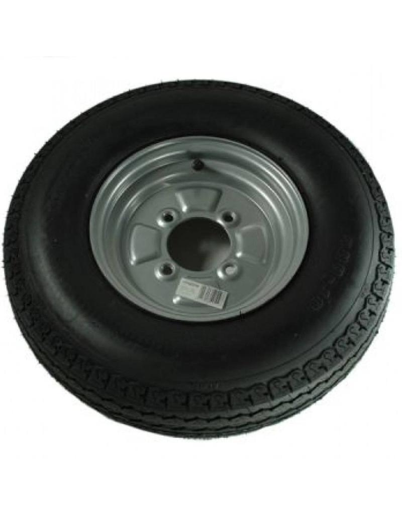 500 x 10 Wheel and Tyre 6 PLY in Silver 4 Stud | Fieldfare Trailer Centre