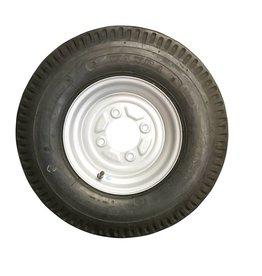 500 x 10 Wheel & Tyre 6 PLY in Silver 4 Stud 115mm pcd