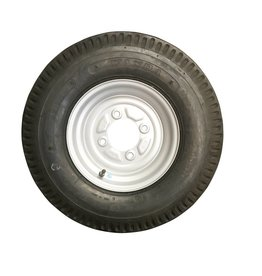 500 x 10 Wheel AND Tyre 6 PLY in Silver 4 Stud 115mm pcd