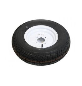 145B10 Trailer Wheel and Tyre 4 PLY in White 4 Stud 4 inch pcd