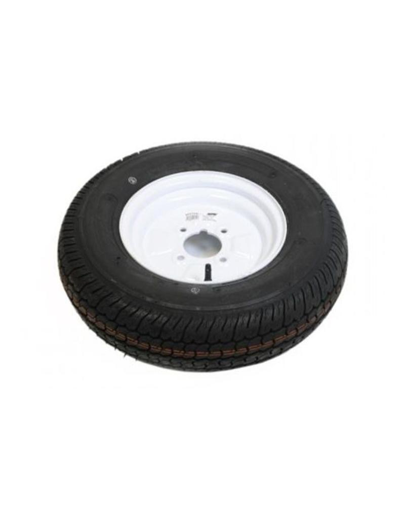 145B10 Trailer Wheel AND Tyre 4 PLY in White 4 Stud 4 inch  pcd | Fieldfare Trailer Centre