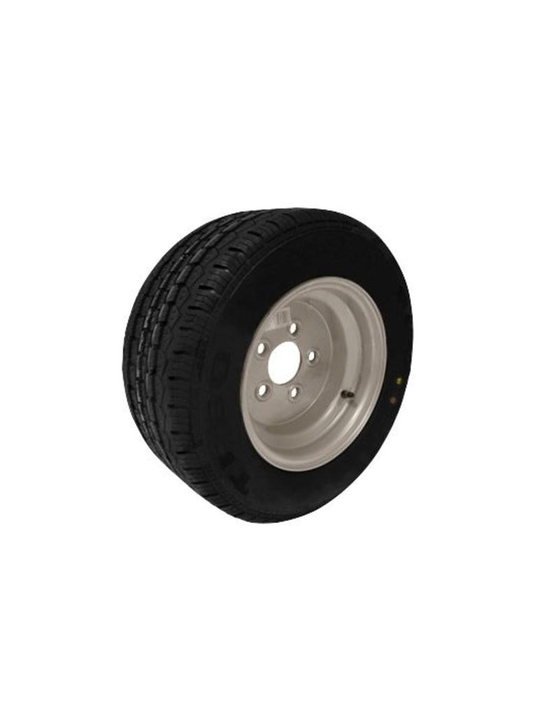 195/55R 10C 96N 5 Stud 112mm PCD Silver Trailer Wheel and Tyre | Fieldfare Trailer Centre