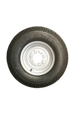 500 x 10 Wheel AND Tyre 6 PLY in White 4 Stud | Fieldfare Trailer Centre