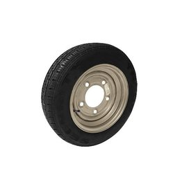 155/70R12C 104N/102N 5 STUD 6.5 PCD Silver Trailer Wheel AND Tyre