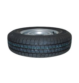 """Maypole 165R 13C Trailer Wheel & Tyre 74N 4 STUD 5.5"""" PCD SILVER"""