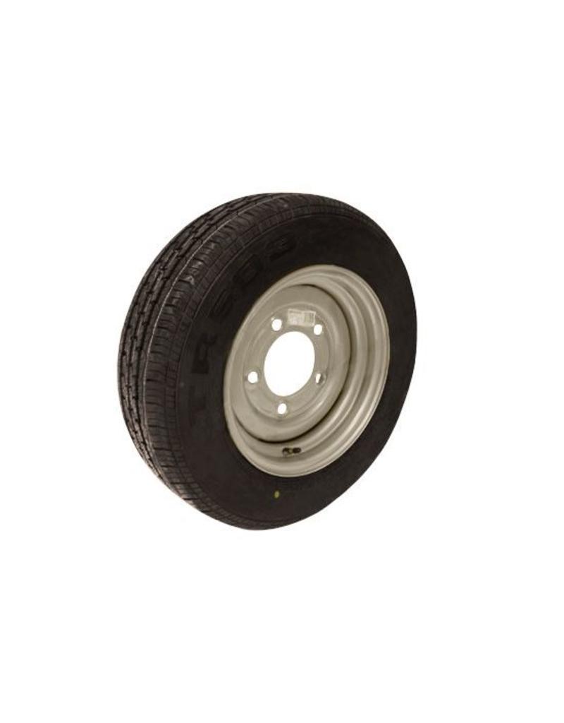 185/70R13C 106N/104N 5 STUD 6.5 PCD Silver Trailer Wheel AND Tyre   Fieldfare Trailer Centre