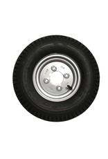WSL 400 x 8 Wheel AND Tyre 4 PLY in Silver 4 inch  PCD | Fieldfare Trailer Centre