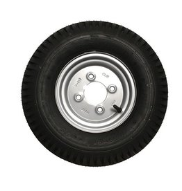 400 x 8 Wheel AND Tyre 4 PLY in Silver 4 inch  PCD