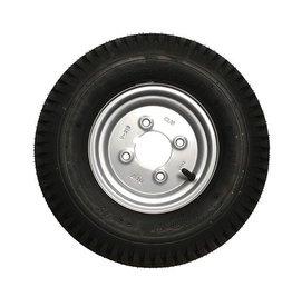 """400 x 8 Wheel & Tyre 4 PLY in Silver 4"""" PCD"""
