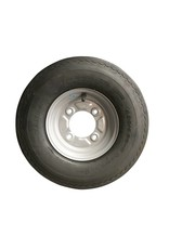 400 x 8 Wheel AND Tyre 4 PLY in White 4 inch  PCD | Fieldfare Trailer Centre