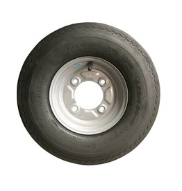 WSL 400 x 8 Wheel AND Tyre 4 PLY in Silver 115mm pcd