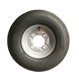 WSL 400 x 8 Wheel & Tyre 4 PLY in Silver 115mm pcd