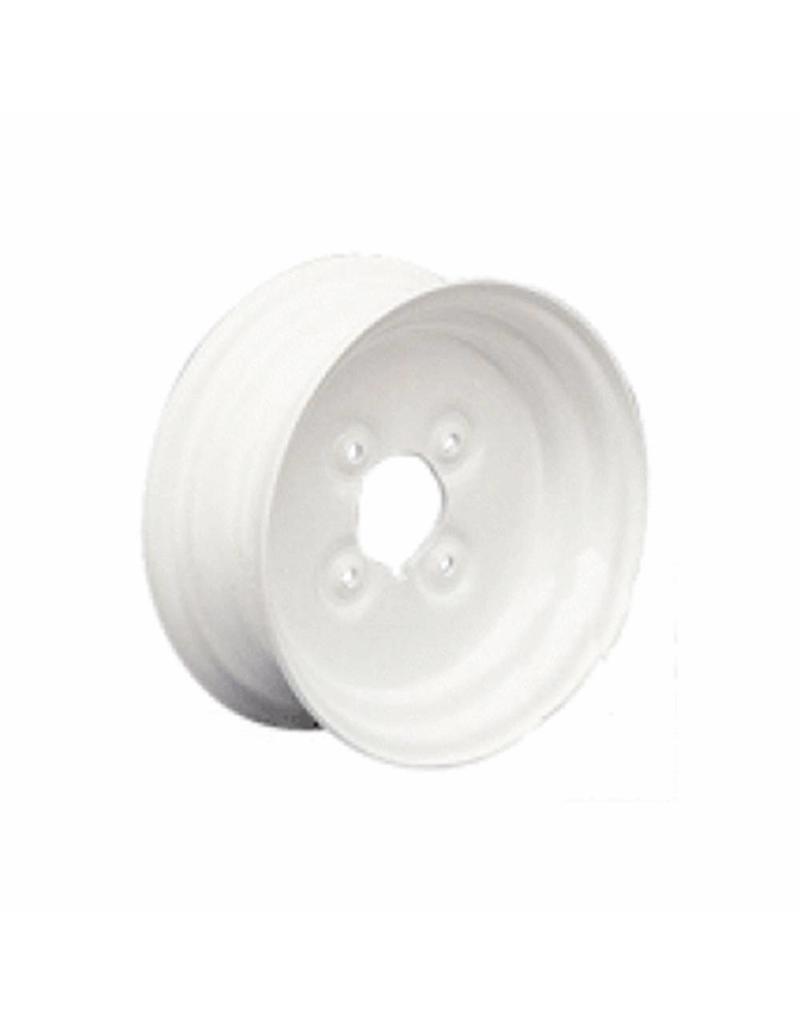 White Trailer Wheel 8 Inch Rim Steel 2.5J x 4inch PCD 4 Holes   Fieldfare Trailer Centre
