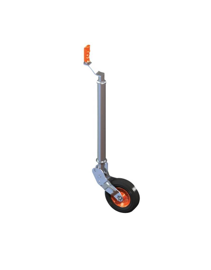 Kartt 48mm Kartt Orange Jockey Metal Rim Solid Wheel Smooth Auto Lift | Fieldfare Trailer Centre