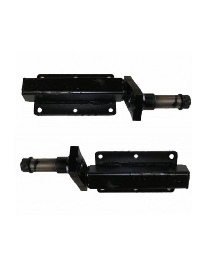 Black Painted Unbraked Mini Wheel Trailer Suspension Unit 250kg Per Pair | Fieldfare Trailer Centre