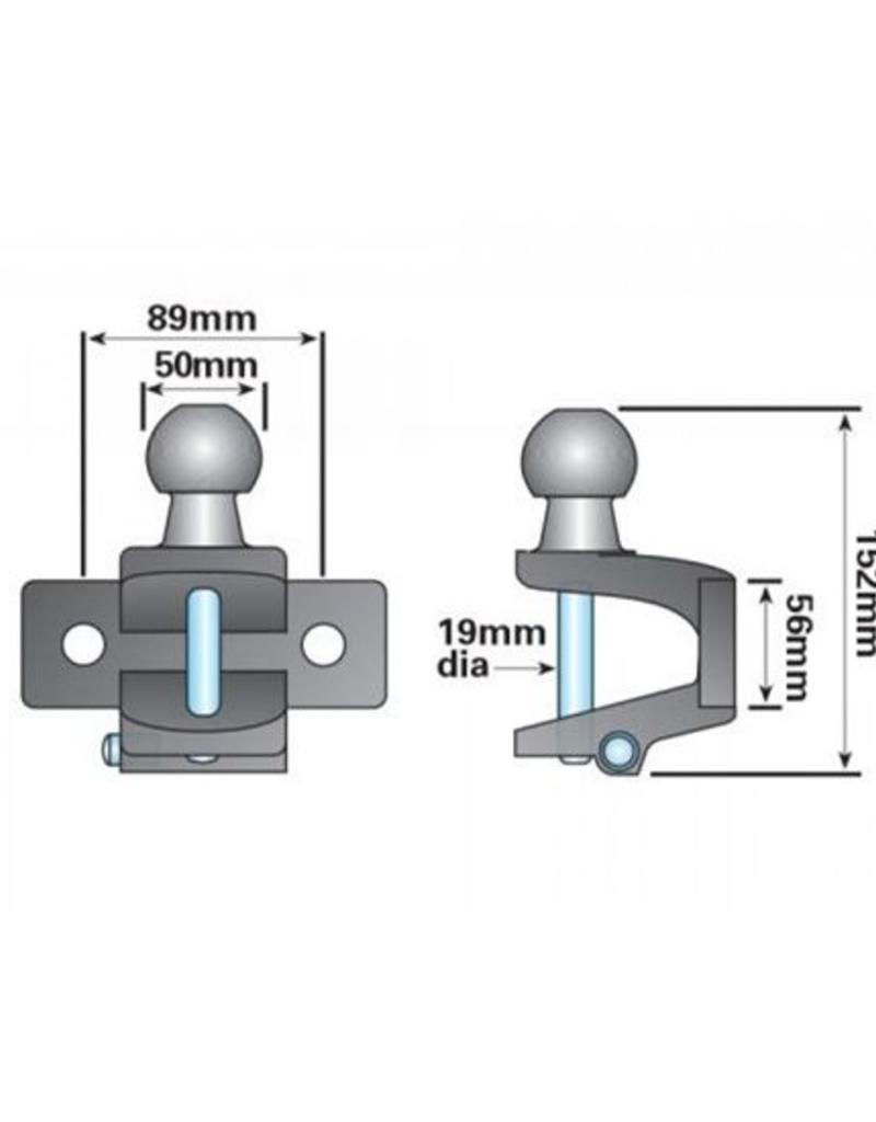 Maypole 50mm High Reach Combined Ball and Pin   Fieldfare Trailer Centre