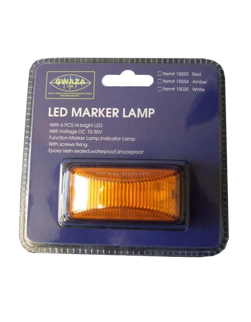GWAZA LED Trailer Amber Marker Lamp | Fieldfare Trailer Centre