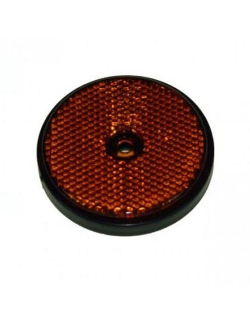 Maypole RADEX Round Amber Trailer Reflector 60mm Diameter   Fieldfare Trailer Centre