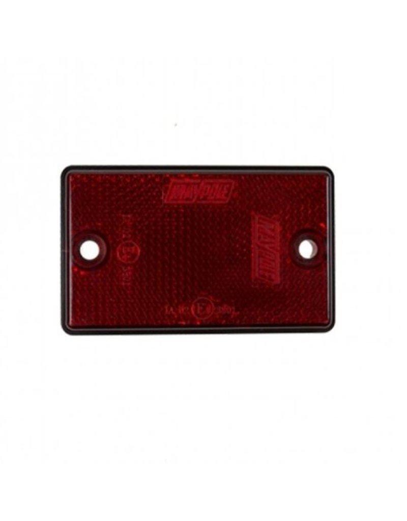 Rear Red Reflector 75 x 46mm | Fieldfare Trailer Centre