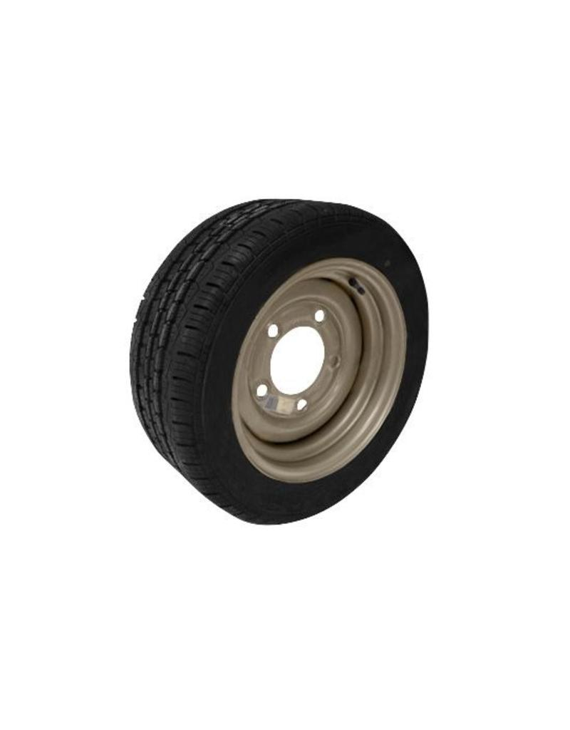195/50R13C 104N/101N 5 Stud 6.5 PCD Silver Trailer Wheel and Tyre| Fieldfare Trailer Centre