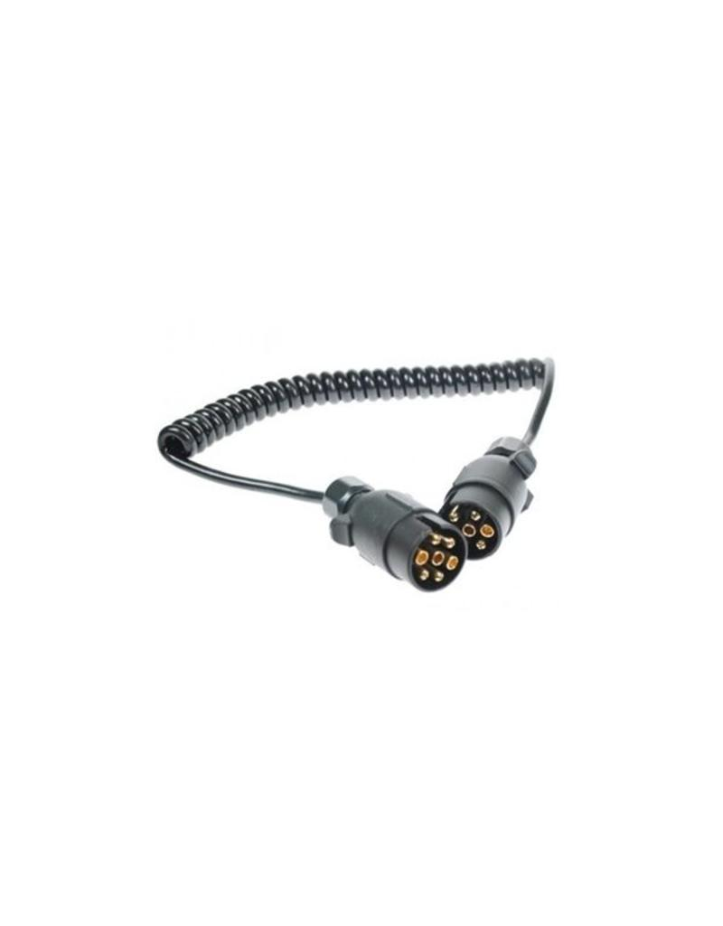 Trailer 1.5m Curly Connecting Lead 12N 7 Pin Plug | Fieldfare Trailer Centre