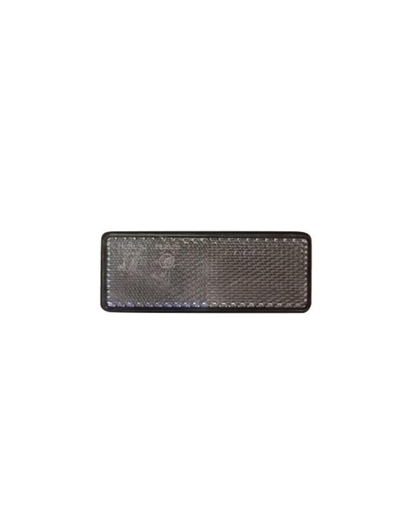 White Rectangular Reflector 95 x 38mm | Fieldfare Trailer Centre