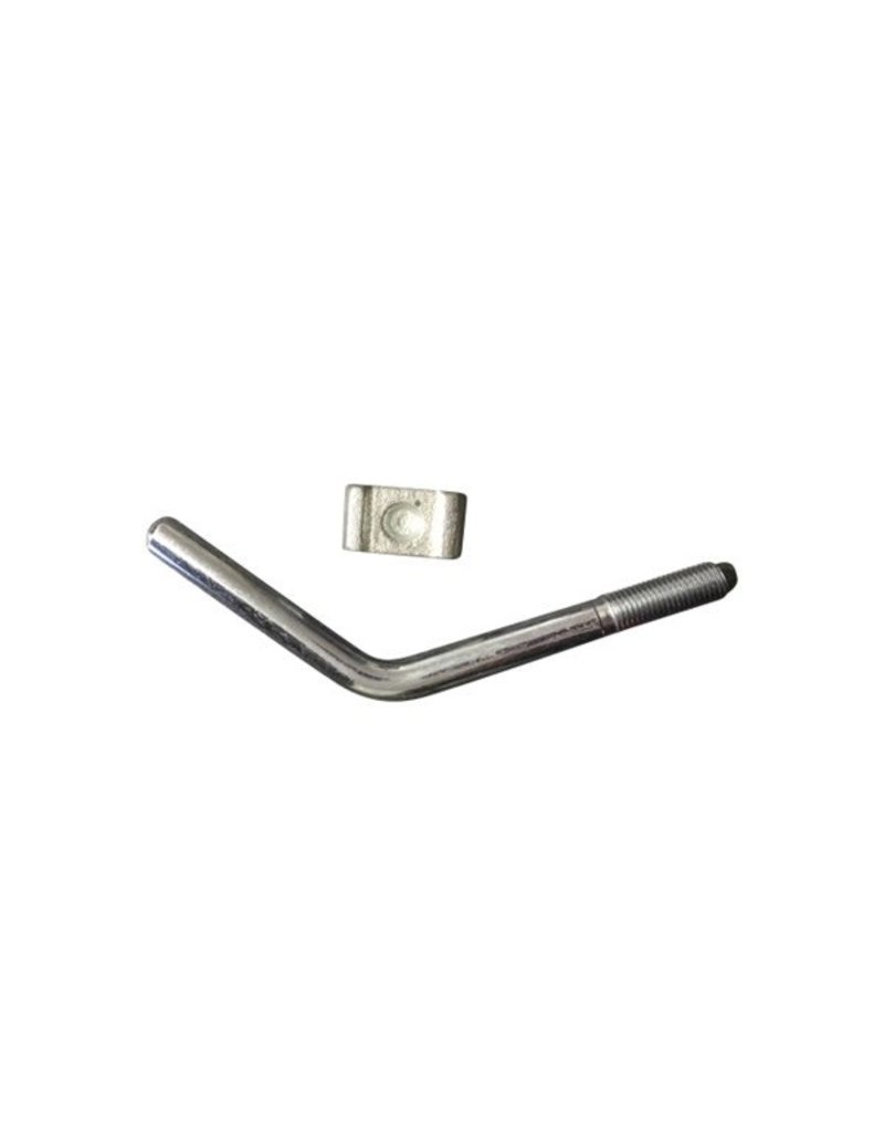 Handle AND Pad 5/8 inch  to suit Bradley HU12 | Fieldfare Trailer Centre