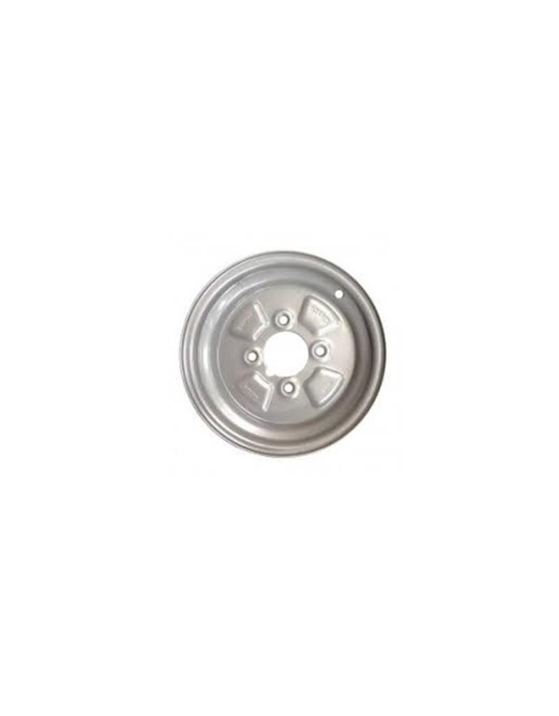 10 inch Rim Steel 3.50J x 4 inch PCD x 4 Holes in Silver | Fieldfare Trailer Centre