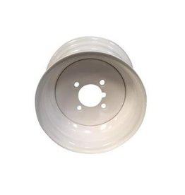 10 inch Rim Steel 3.50J x 4 inch PCD x 4 Holes in White