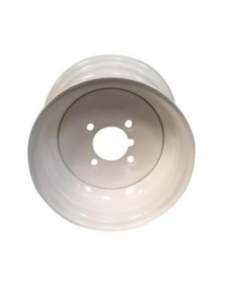 10 inch Rim Steel 3.50J x 4 inch PCD x 4 Holes in White | Fieldfare Trailer Centre