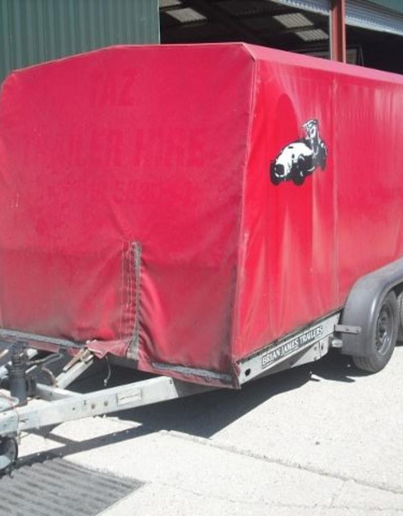 Used Brian James Covered Clubman Car Trailer | Fieldfare Trailer Centre