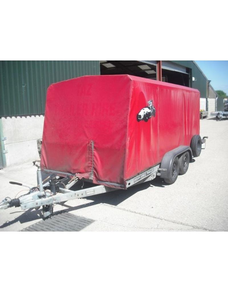 Used Brian James Covered Clubman Car Trailer   Fieldfare Trailer Centre