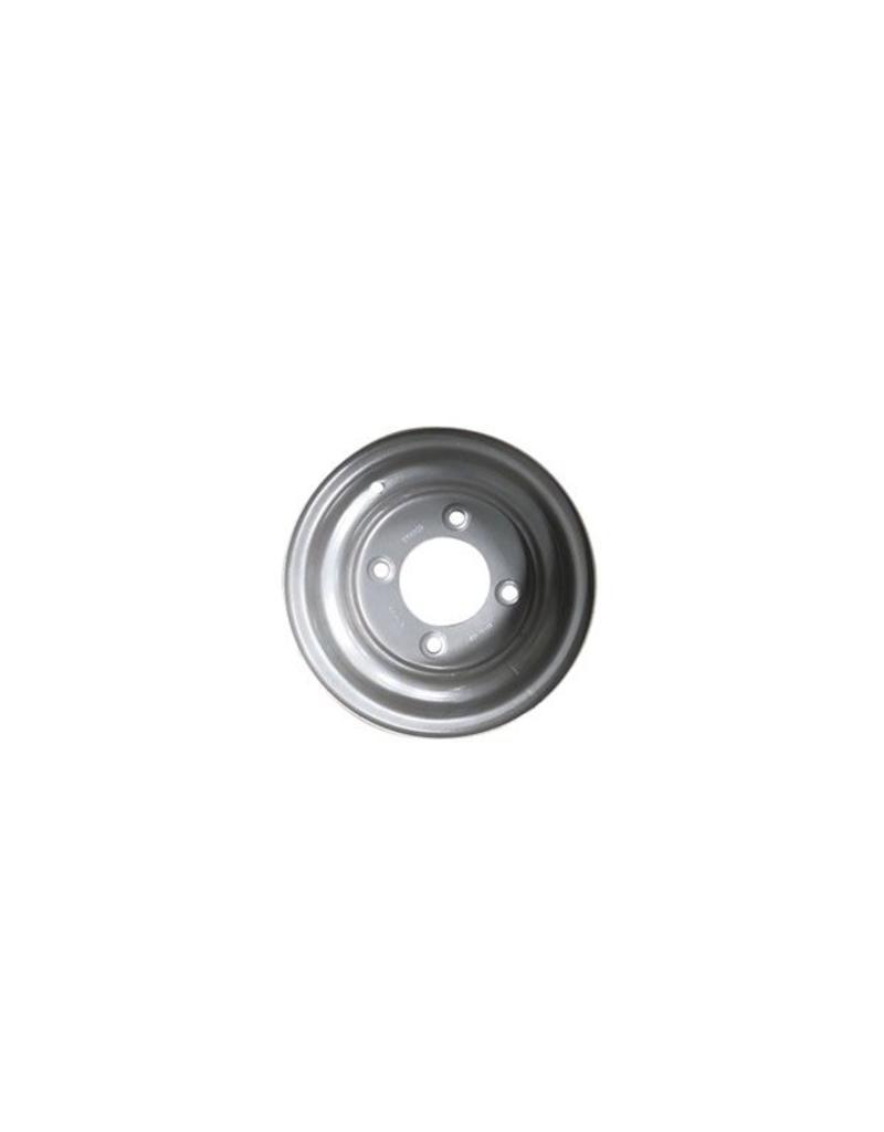 10 inch Rim Steel 6.00J x 5.5 inch  PCD x 4 Holes Silver | Fieldfare Trailer Centre