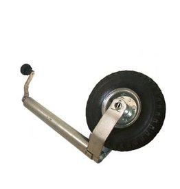 GWAZA Jockey Wheel Pneumatic NO Clamp 48 mm N.W.L 150kg