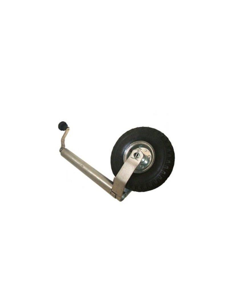 GWAZA Jockey Wheel Pneumatic NO Clamp 48 mm N.W.L 150kg | Fieldfare Trailer Centre