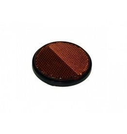 Maypole Round Amber Reflector Self Adhesive