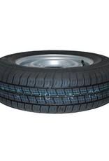 175R 13C Trailer Wheel & Tyre 74N 4 STUD 5.5 inch PCD SILVER | Fieldfare Trailer Centre