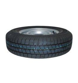 175R 13C Trailer Wheel & Tyre 74N 4 STUD 5.5 inch PCD SILVER